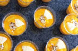 gelatina de zanahoria en moldes
